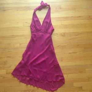 Beautiful silk halter style dress, size 2